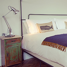 The bedrooms at Artist Residence London