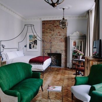 Boutique hotel in London Victoria. 10 bedroom townhouse with restaurant, events space and cafe.