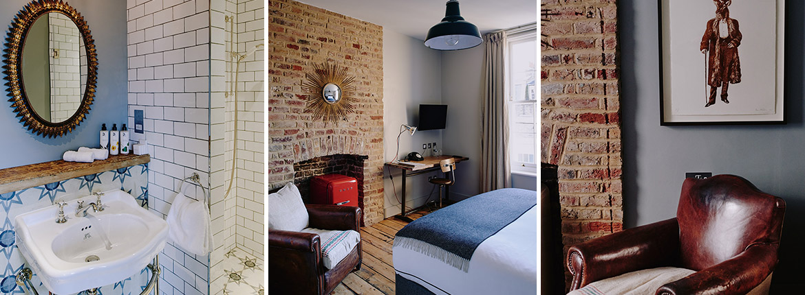 Boutique hotel in London Victoria with 10 individually designed rooms.